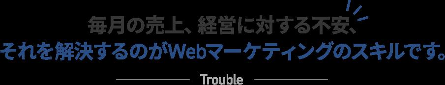 毎月の売上、経営に対する不安、 それを解決するのがWeb集客のインハウス化です。